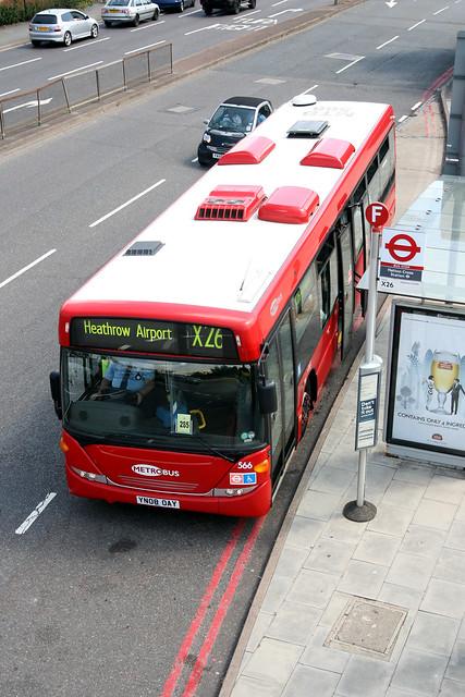 Metrobus 566 YN08OAY