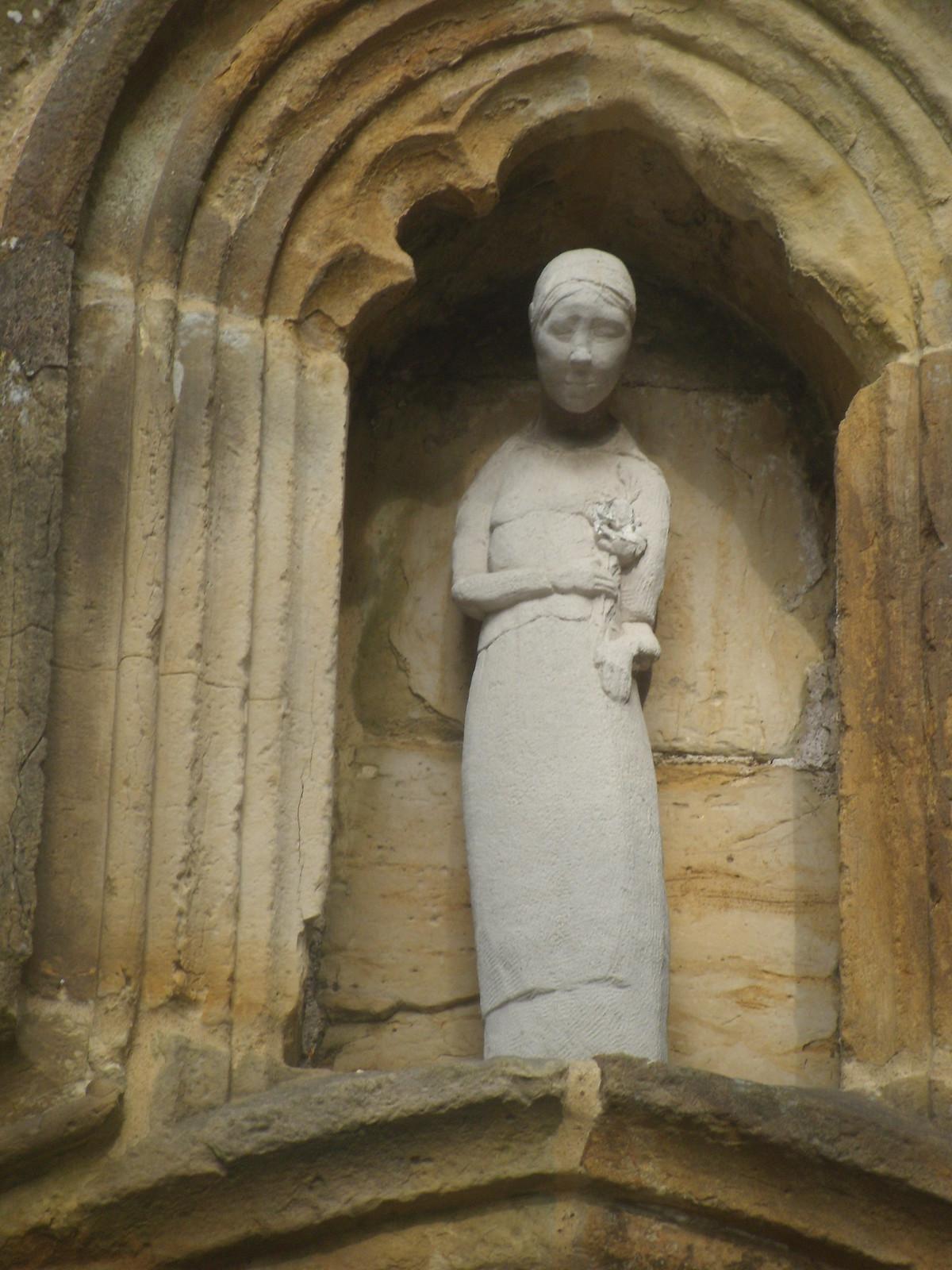 Virgin Mary Modern statue. Saleham Church. Robertsbridge circular