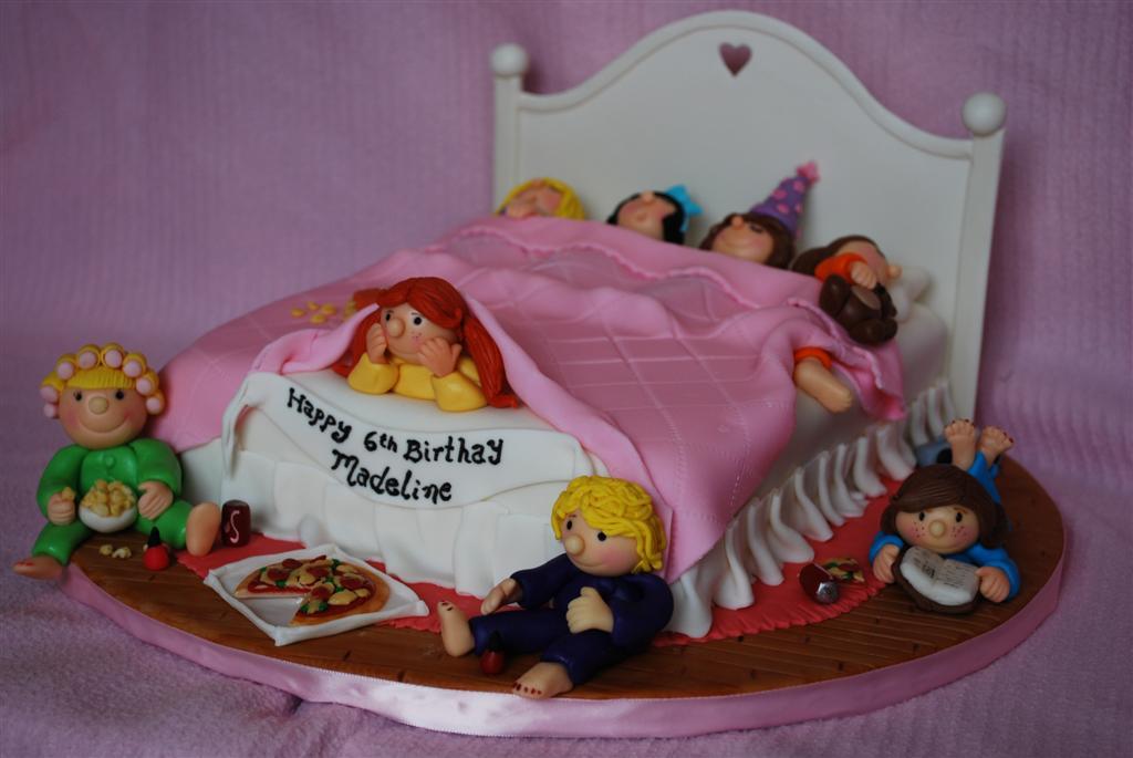Fantastic Sleepover Birthday Cake A Fun Girls Night Cake Is 11X 9 Flickr Funny Birthday Cards Online Inifodamsfinfo