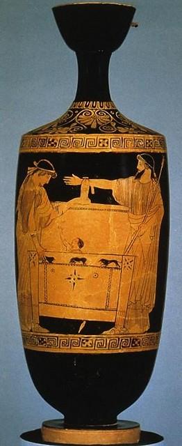 -470  Dánae y Perseo son arrojados al mar