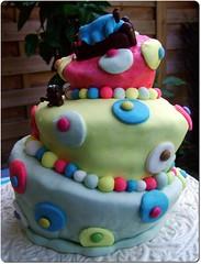 Pippi Longstocking topsy turvy cake