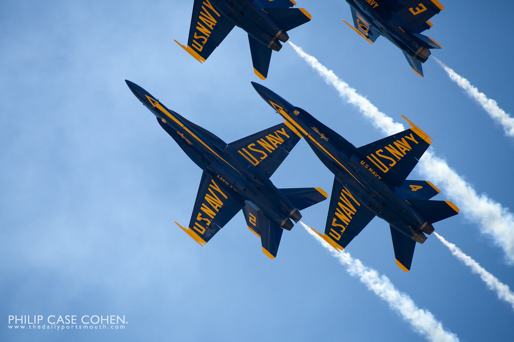 Blue Angels VIII | Portsmouth Air Show by Philip Case Cohen