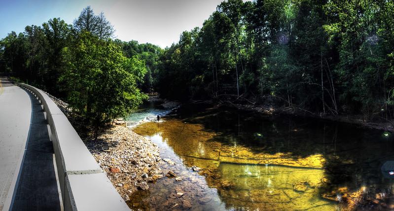 Spring Creek from Waterloo Rd Bridge, Overton Co, TN