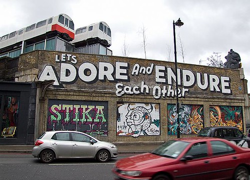 'Let's Adore and Endure Each Other' by Espo, Village Underground, Shoreditch, London | by chrisjohnbeckett
