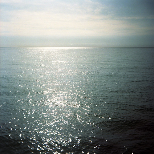 usa lake holiday 120 6x6 film water mediumformat square michigan horizon roadtrip super lakemichigan ilford kodakportra160vc manistee iso160 sporti ilfordsupersporti