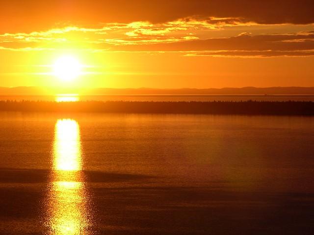 Coucher de soleil sur l'île St-Barnabé