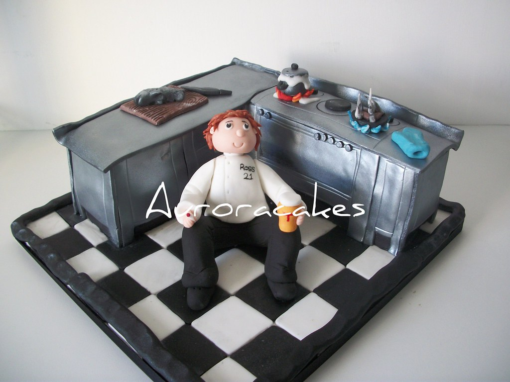 Groovy Chef Cake This Was Ordered By The Birthday Boys Girlfriend Flickr Personalised Birthday Cards Petedlily Jamesorg
