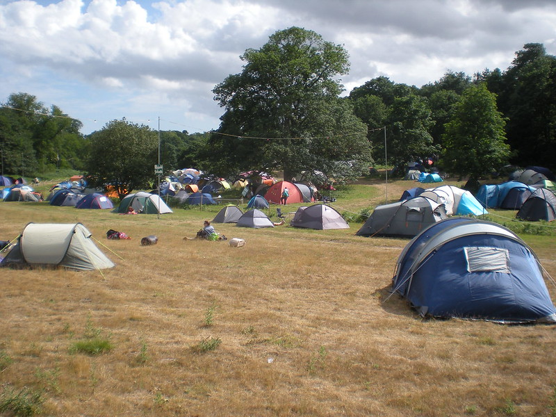 Performers' campsite