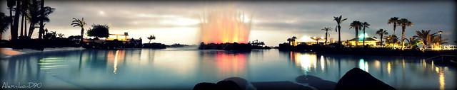 Lago Martiánez panorámica
