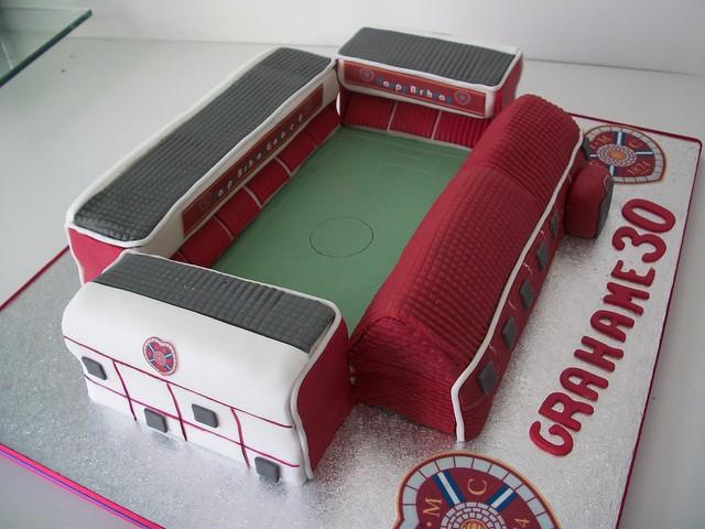 Hearts of midlothian stadium cake