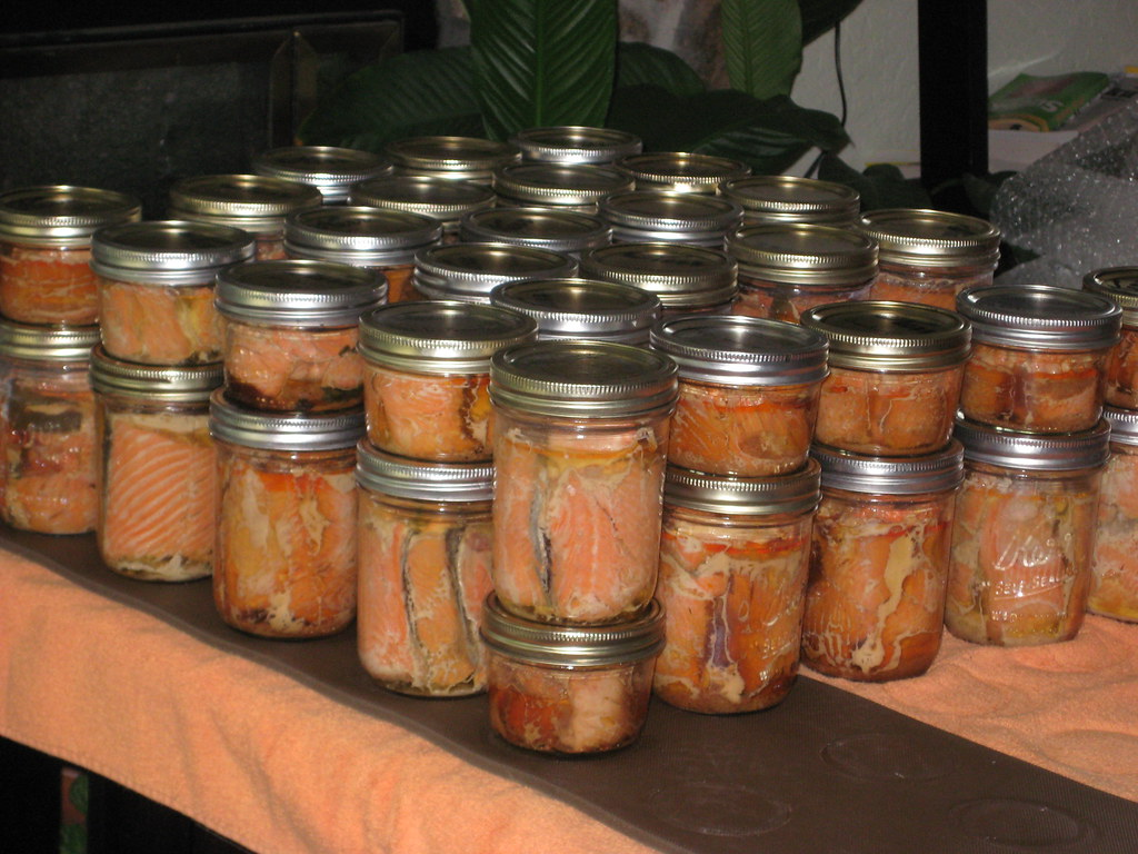 lots of canned salmon