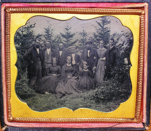 Ambrotype of an Outdoors Group