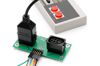 NES controller interface   by Dan Strother