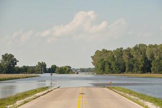 Flooding on R70 North of Cambridge