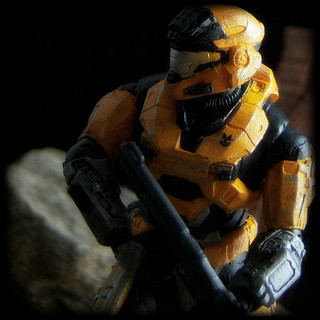 McFarlane Halo Reach - Mark V [B] Spartan [Yellow/Steel