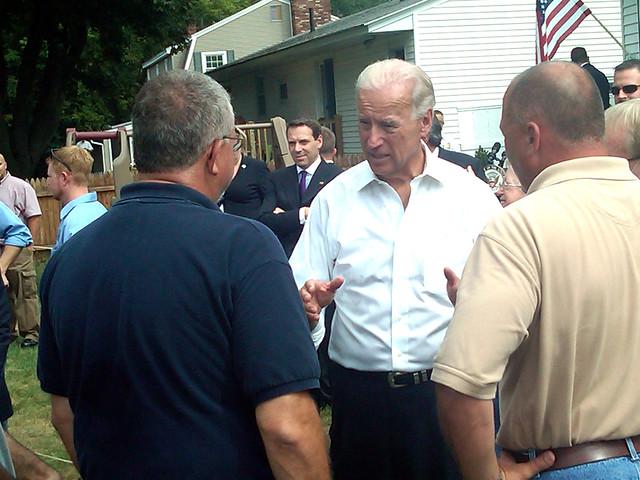 Joe Biden in Manchester