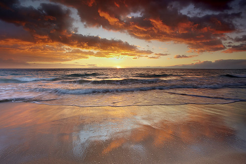 ocean sunset red sea wallpaper sky usa seascape water landscape hawaii sand unitedstates wave bigisland hapuna