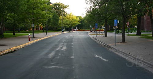 the middle of Pleasant Street