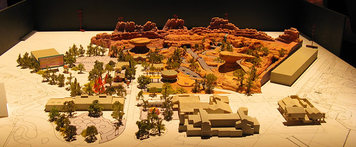 Model of Carsland, California Adventure Expansion Concept Art | by Mastery of Maps