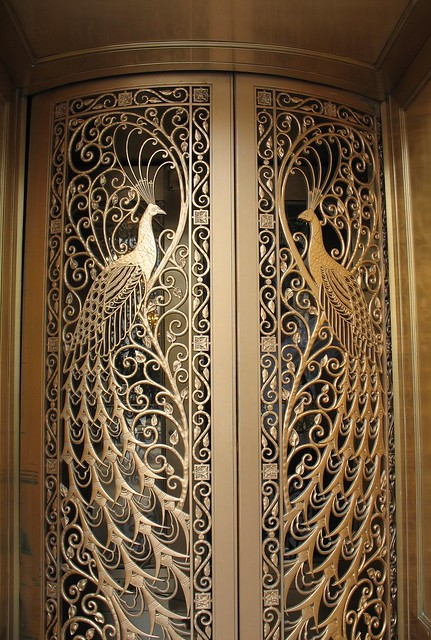 Peacock doors, Palmer House Hotel