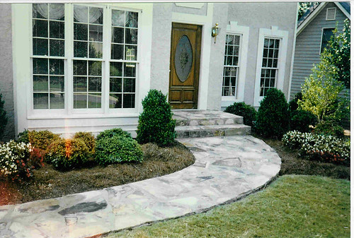 Atlanta-flagstone-stone-walkway-steps | by ARNOLD Masonry and Landscape