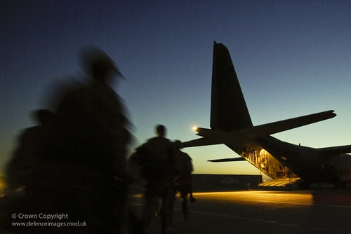 uk sunset afghanistan silhouette sunrise soldier aircraft military transport middleeast free operations british defense defence hercules raf ops kandahar fre kaf royalairforce helmand britishforces 3scots opherrick ukforces