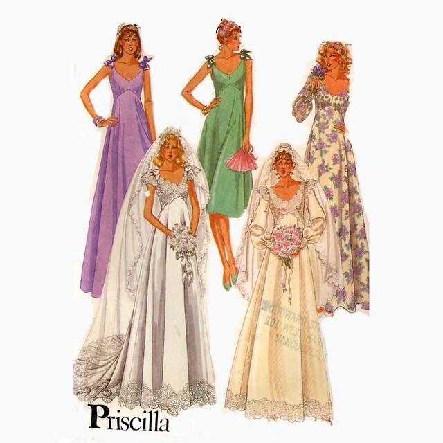 McCall's 7394 wedding dress