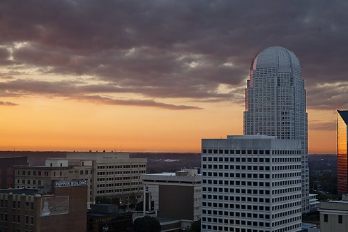 city sunrise canon downtown northcarolina hotelroomview wistonsalem