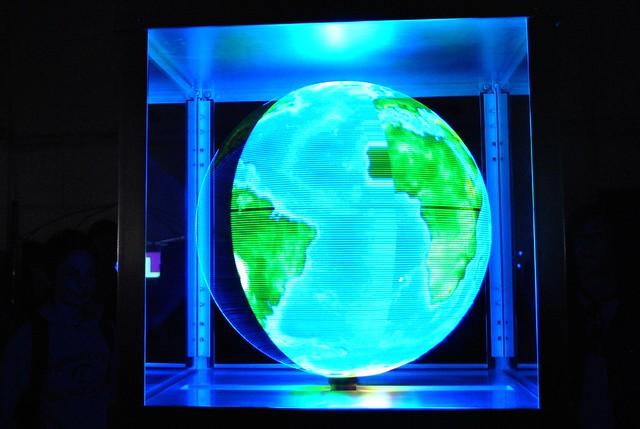Maker Faire 2010: Spinning LED Globe