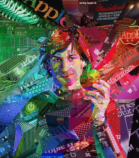 Psychedelic Steve Jobs (collage portrait for ALFA magazine, Brazil) | by tsevis