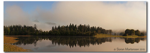 panorama lake reflection clouds forest sunrise canon bush dam pano kitlens australia nsw 1855mm aussie aus manfrotto mountwarning uki murwillumbah eos450d 450d clarriehalldam tweedshire sorenmartensen