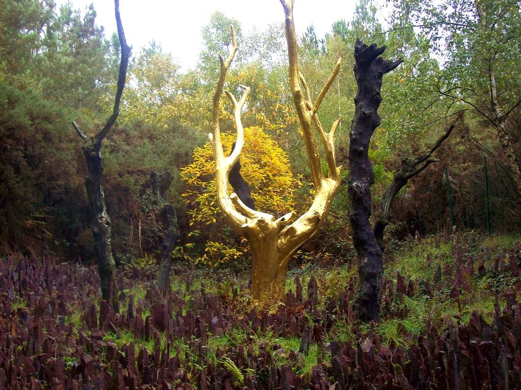 l'arbre d'or à Brocéliande | L'Arbre d'Or est situé à l'entr… | Flickr
