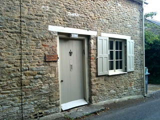 The Old Bake House door and window shutters in Minster Lovell Village | by Tip Tours