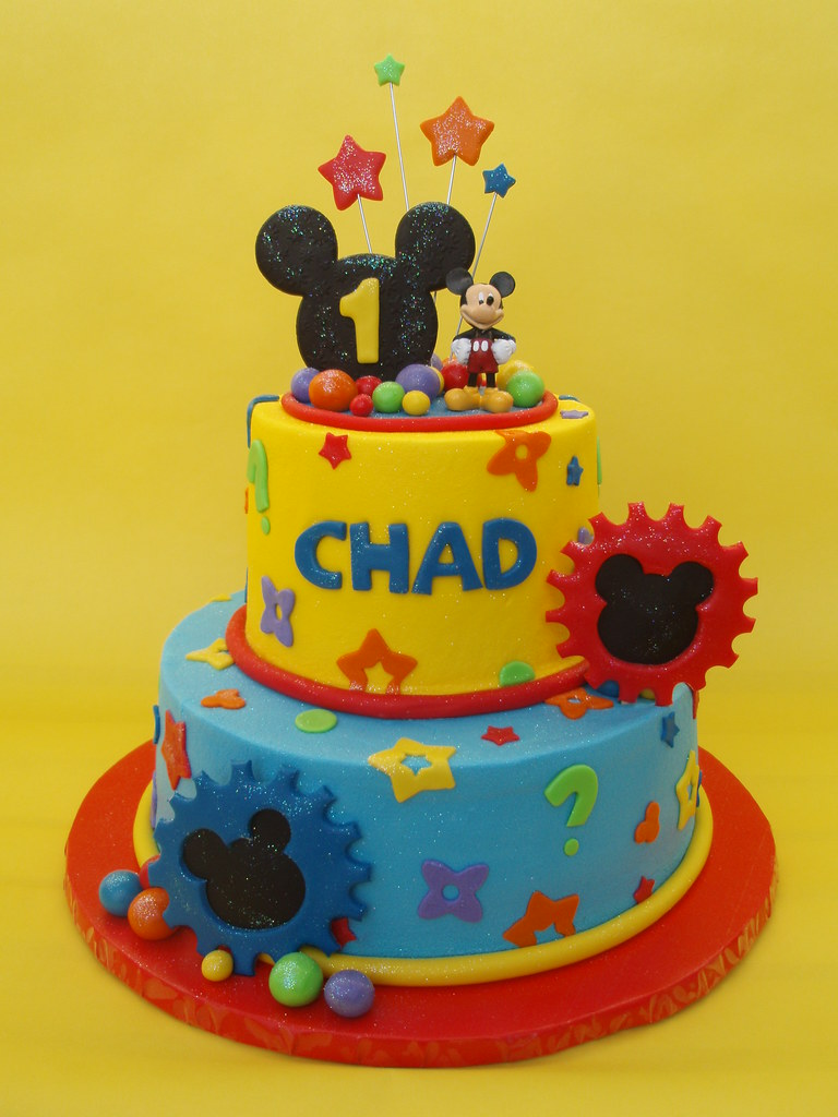 Astounding Mickey Mouse Clubhouse Birthday Cake Another Mickey Mouse Flickr Funny Birthday Cards Online Fluifree Goldxyz