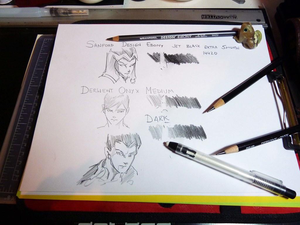 Sanford design ebony drawing pencil compared to derwent on flickr