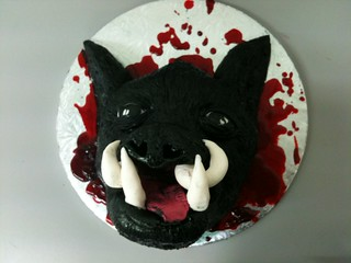 Remarkable Cake Gross Severed Wild Pigs Head Dont Look If Your Squee Flickr Personalised Birthday Cards Arneslily Jamesorg