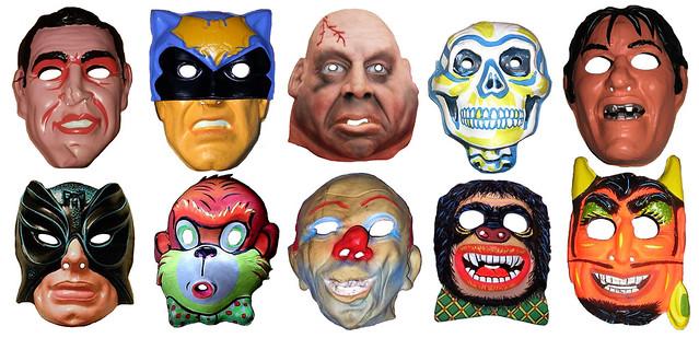 Halloween Bond And Thug Masks Vintage 0131