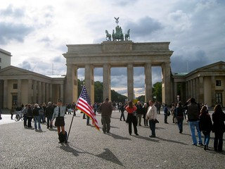 Brandenburg gate (apparently recently claimed by sexy americans) | by jetsetwhitetrash