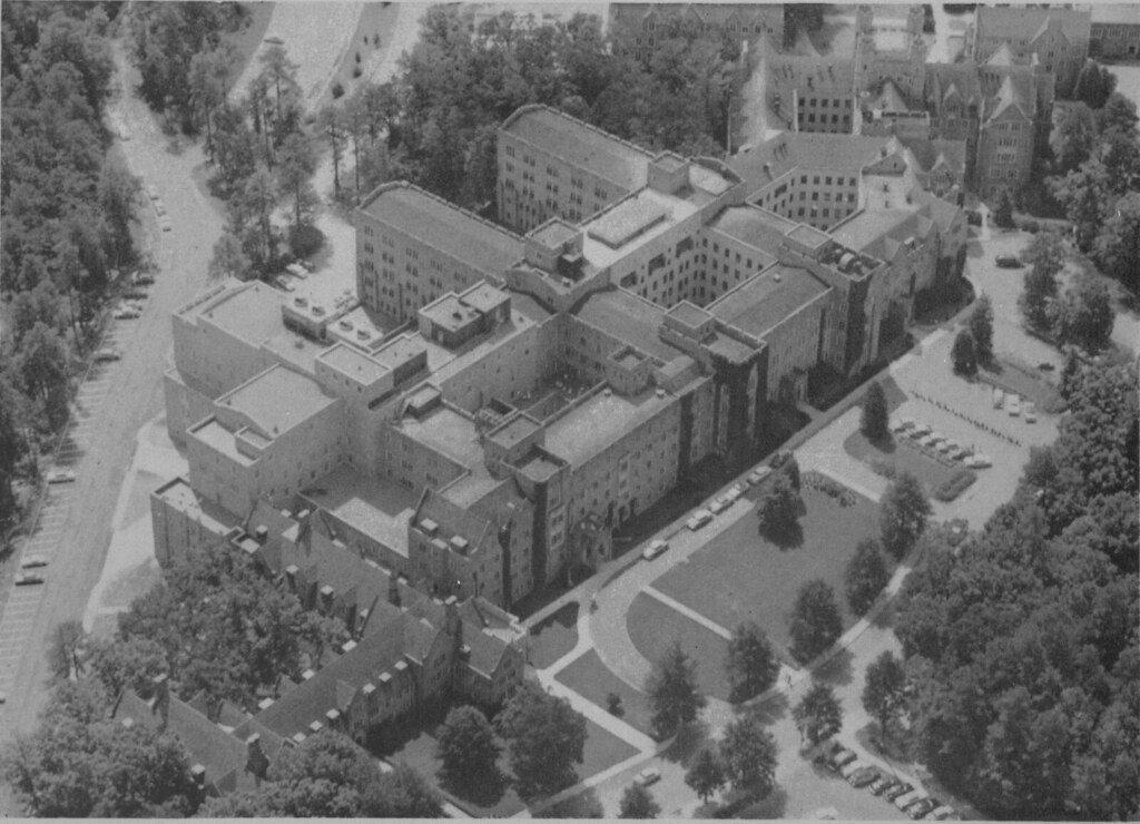 Duke Hospital (South), aerial view from the northwest, und… | Flickr