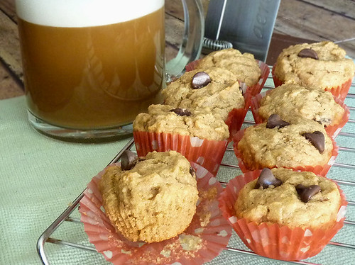 Katie's Peanut Butter Chocolate Chip Muffins | by River (Wing-It Vegan)
