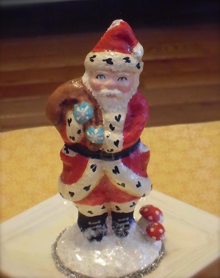 Bethany Lowe Large Paper Mache Santa Claus   Neiman Marcus   916x727
