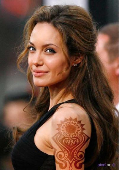 Angelina Jolie Pixel Art Official Flickr