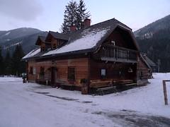 U hájovny Bergerhube začínáme, bohužel to není horská chata s možností přespání.