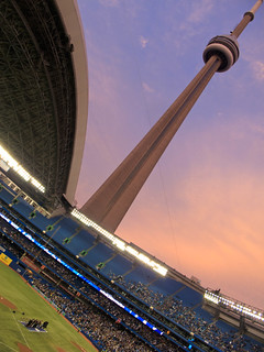 CN Tower from the Rogers Centre | by Numinosity (Gary J Wood)