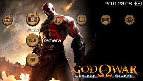 God of War - Ghost of Sparta PSP Theme Screenshot | www playstation
