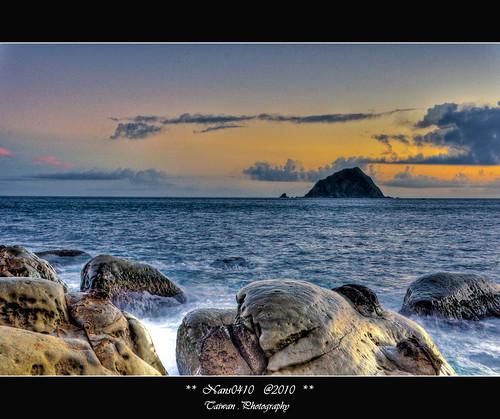 sunrise taiwan 基隆 台灣 hdr 日出 keelong 基隆嶼 和平島河濱公園