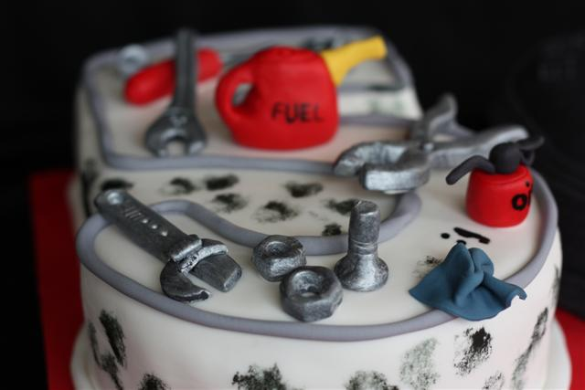 50th Birthday Cake for a mechanic | Managed to get this cake… | Flickr