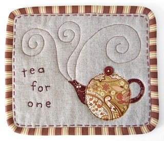 """Tea for One"" Mug Rug 