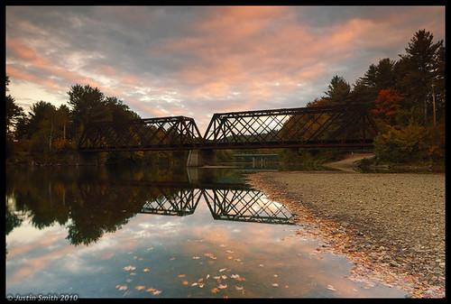 autumn sunset fall nikond50 railbridge pemi pemigewassetriver justinsmith leefilters nikon1735mmf28