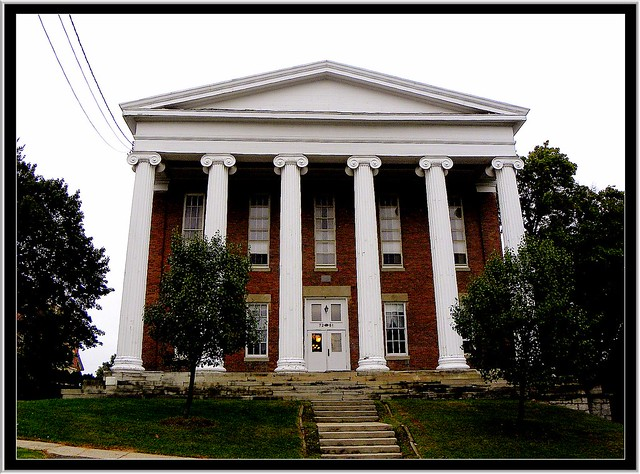 Lima NY ~ Genesee College Hall ~ Facade is towards the South
